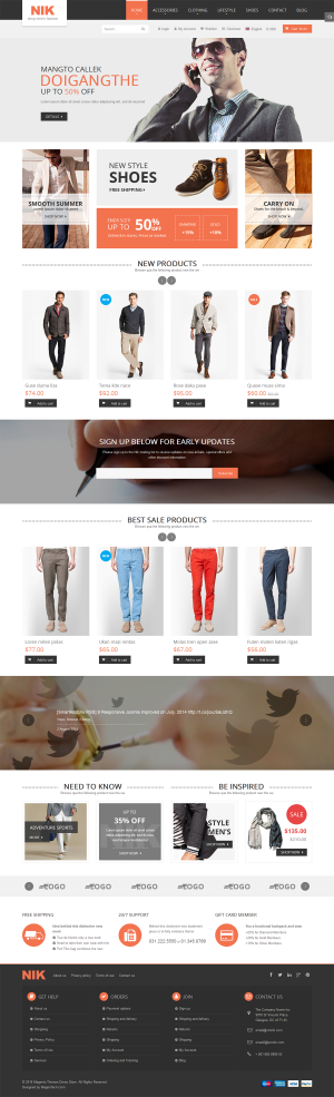 Nik is an premium Magento responsive theme comes with an eye-pleasing design interface, especial ...