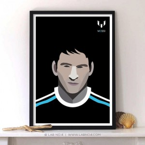 Messi Football Player For Spanish Club FC Barcelona by Lab No. 4