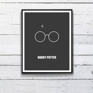 Minimalist Harry Potter poster. Printable Art  by DesignSailors