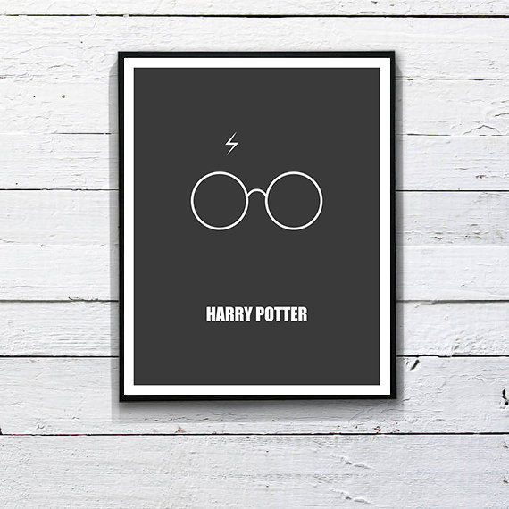 Minimalist Harry Potter poster. Printable Art  by DesignSailors