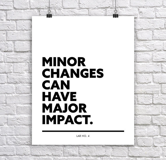Minor changes can have major impact Corporate Short Quote Poster by Lab No. 4
