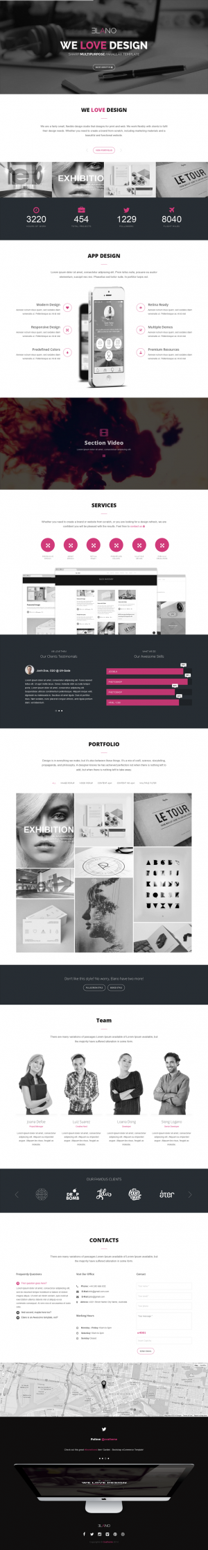Elano is an new premium Multipurpose Joomla Template. This theme is One Page Parallax, HTML5, Co ...