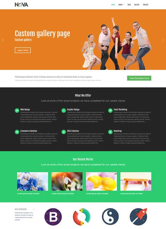 35 Free Bootstrap HTML5 themes.
