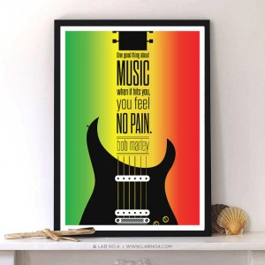 One good thing about music, when it hits you, you feel no pain.An Inspiring Bob Marley Quote fro ...