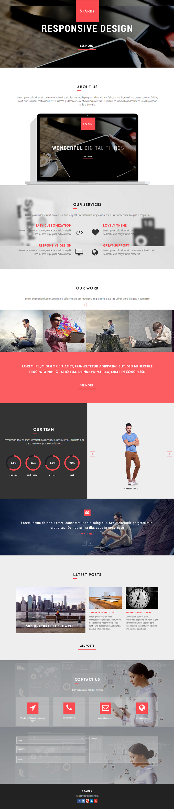 Starky is an responsive One Page Parallax WordPress Theme. Starky is clean and modern theme suit ...