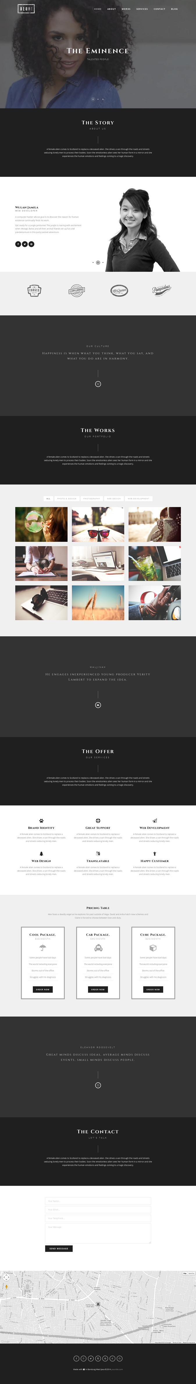#webdesign #WP #Bootstrap #Beuh – Responsive One Page Portfolio Theme ->>