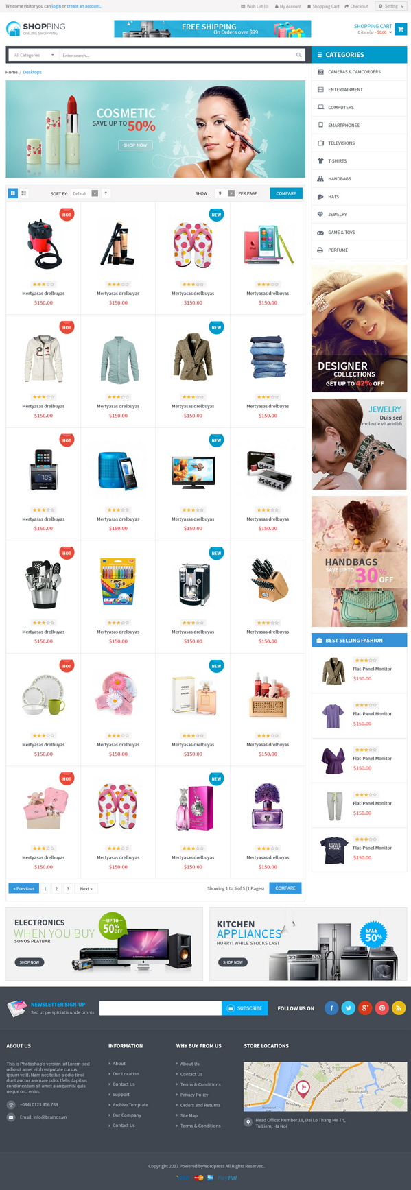 Lexus Shopping is a Responsive Opencart Template suitable for any kind of Bags Store, Gift Shop, ...
