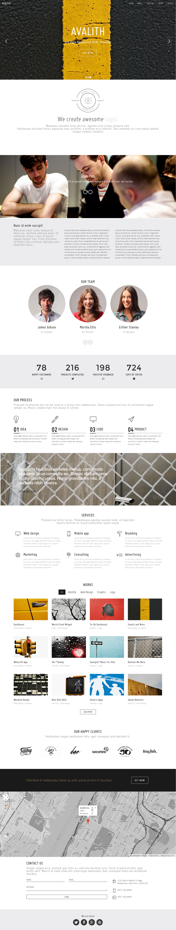 Avalith is the modern and minimal one page responsive portfolio template that will serve all you ...