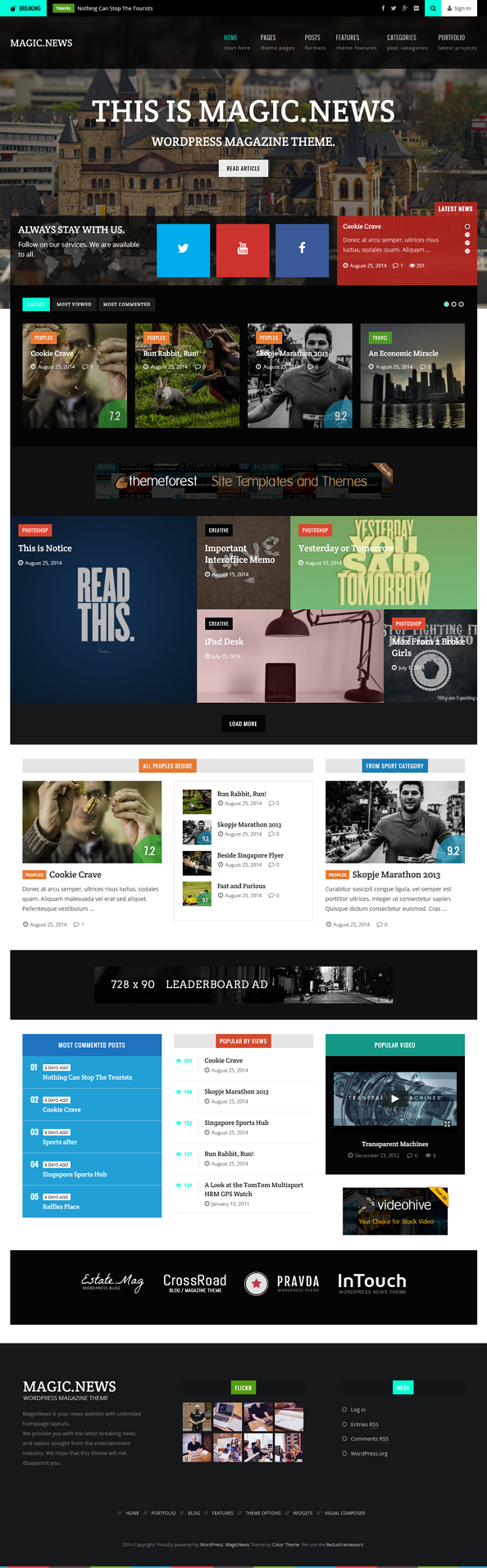 MagicNews is a multipurpose, super-duper customizable WordPress blog\magazine theme.  MagicNews  ...