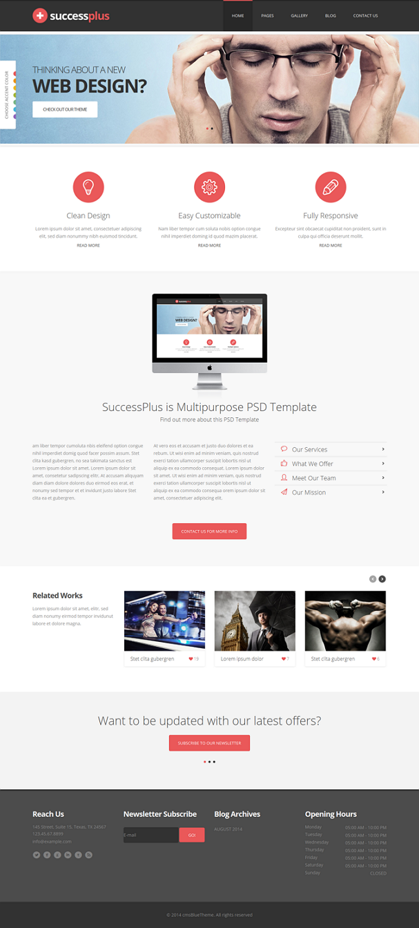 SuccessPlus is a clean multipurpose Joomla Template powered with Twitter Bootstrap 3.0 Framework ...