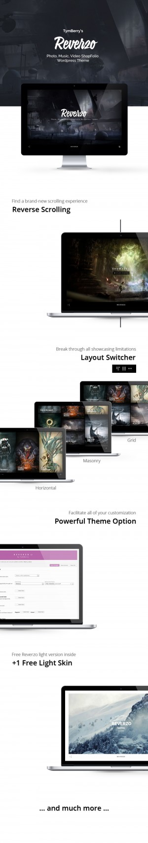 Reverzo – Photo, Music & Video Creative ShopFolio WordPress Theme ——- Reve ...