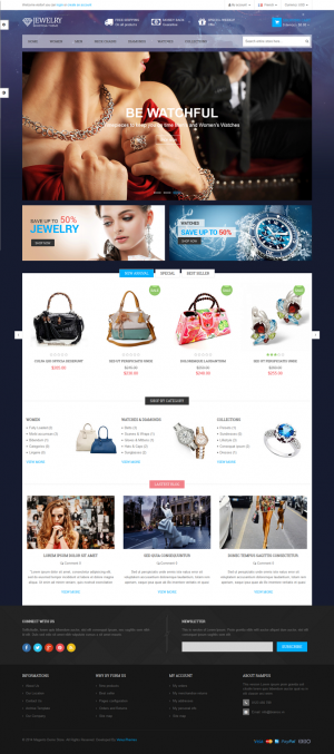 Venus Bags Store is a Responsive Magento Template suitable for any kind of Bags Store, Jewelry S ...