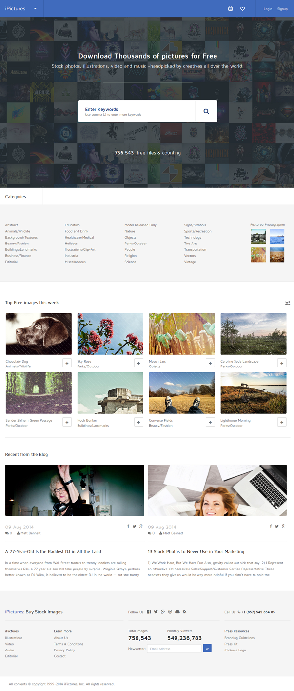 iPictures WordPress version is perfect for your Stock image website. It also can be used for wal ...