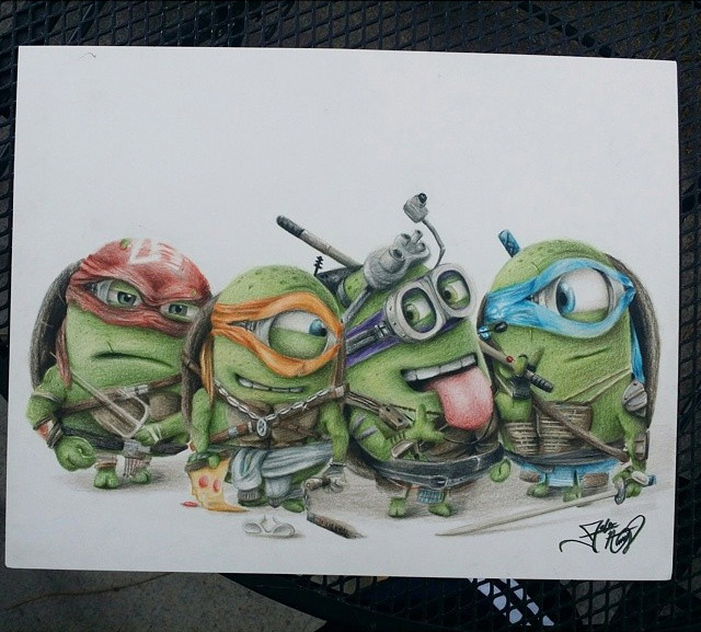 Teenage Mutant Ninja 'Minions' – Fun Drawing by Fabian Nuñez – What an ART