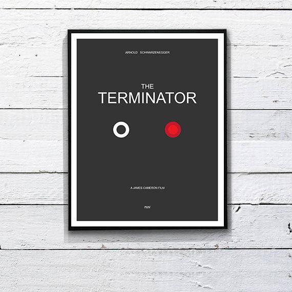 Terminator  Minimalist  Print. Printable Art  by DesignSailors