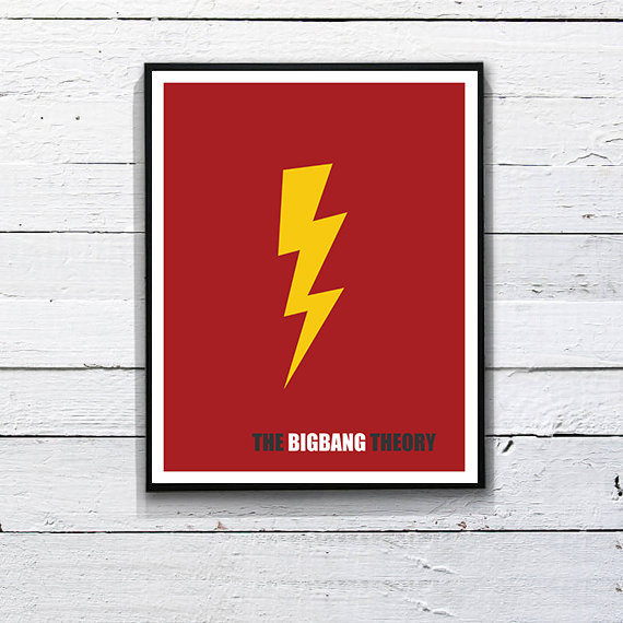 The big bang theory minimalist poster printable by for Minimalist architecture theory