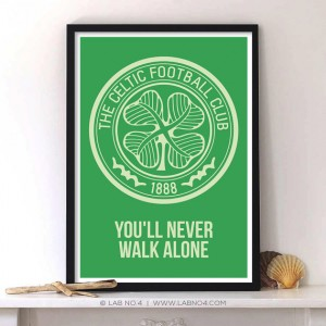 The Celtic Football Sports Club Symbol.Sports quote with Typography Quotes by Lab No. 4