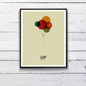 UP Minimalist Quote Poster. Printable Art  11 x by DesignSailors