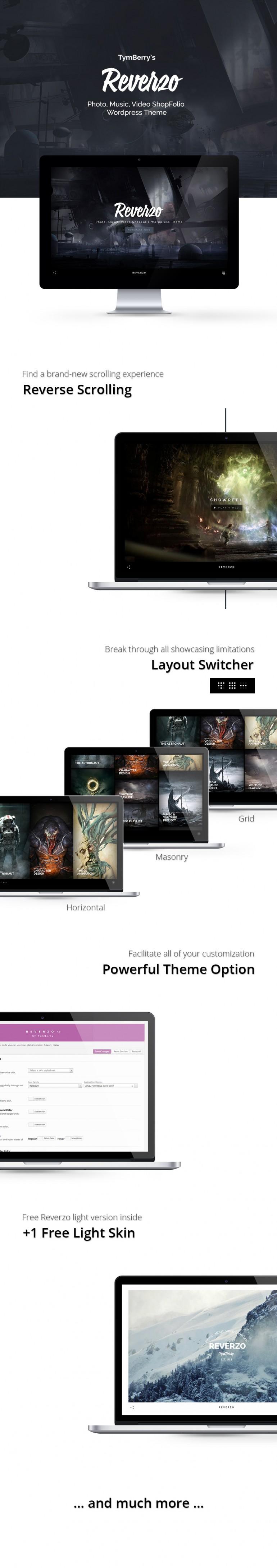 WordPress – Reverzo | Photo, Music & Video Creative ShopFolio | ThemeForest