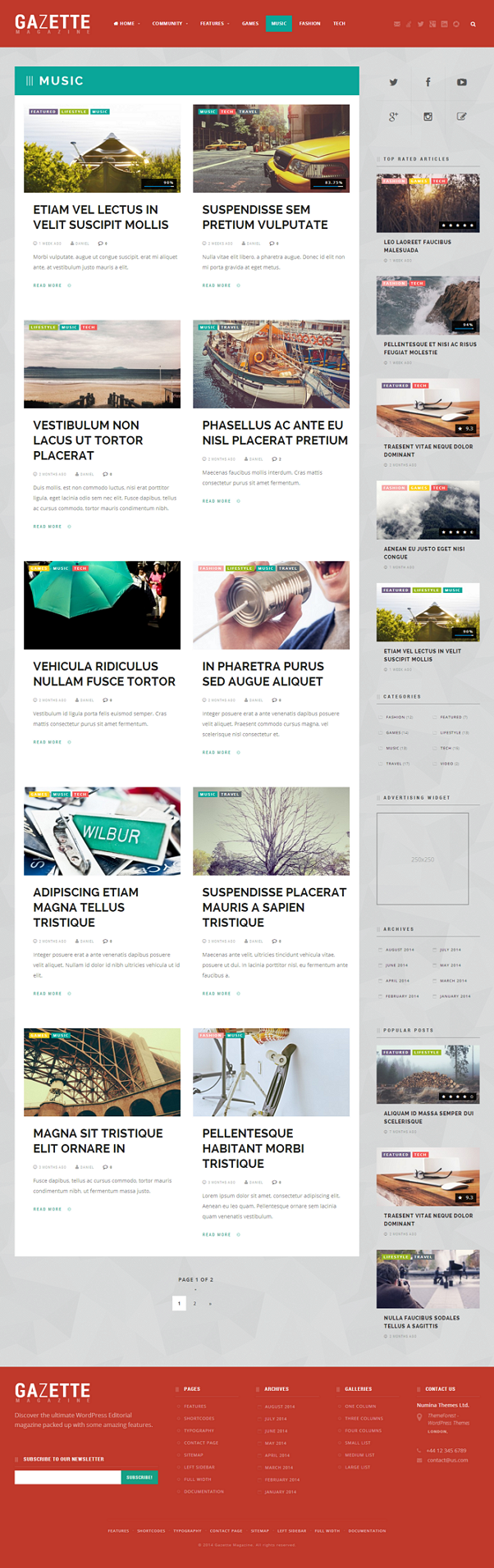 Gazette Magazine is an ultimate all-in-one magazine template with a massive amount of features,  ...