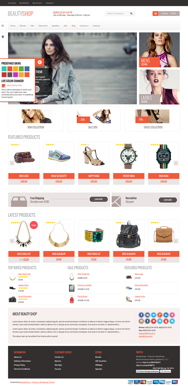 BeautyShop theme design already approved by 1500+ our customers (summary Magento, OpenCart and P ...