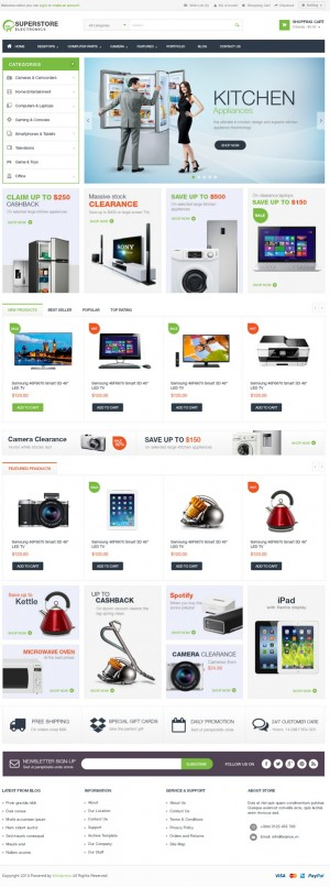 Superstore – Woocommerce Responsive WordPress Template suitable for any kind of Mobile Shop, Com ...
