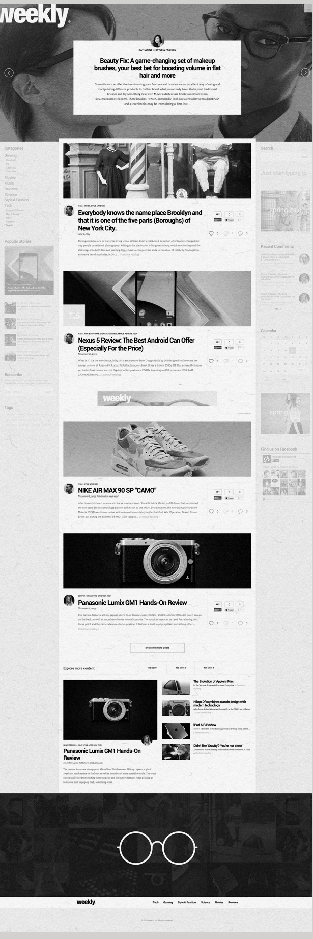 Weekly is a responsive, modern, flexible and clean WordPress theme suitable for magazines, newsp ...