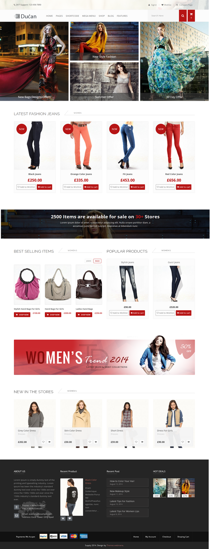 Ducan premium WP eCommerce theme brings you all the advanced and most powerful features that a w ...