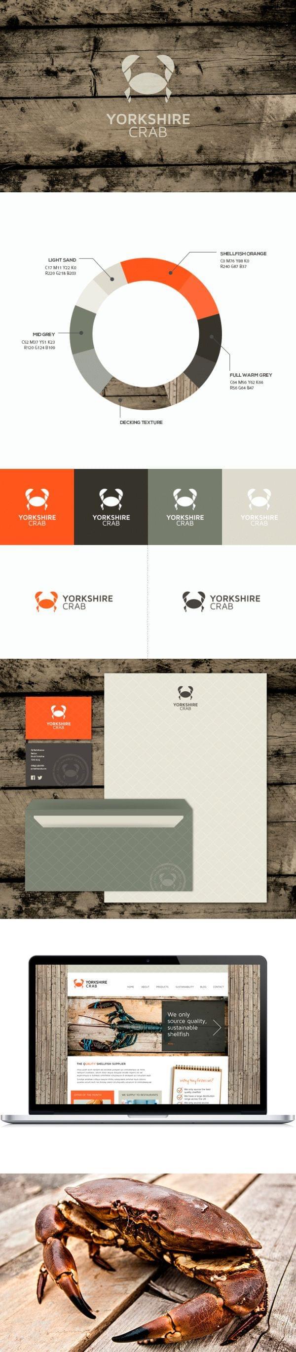 Yorkshire Crab – Visual Identity