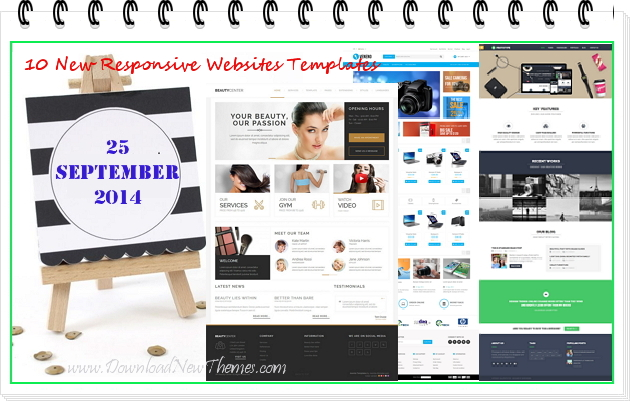 10 new best websites themes of 25th September 2014.