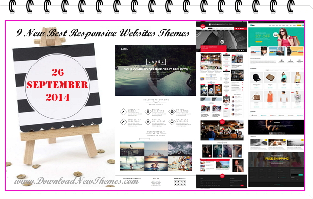 9 New Best Responsive Websites Themes of 26th Sept 2014