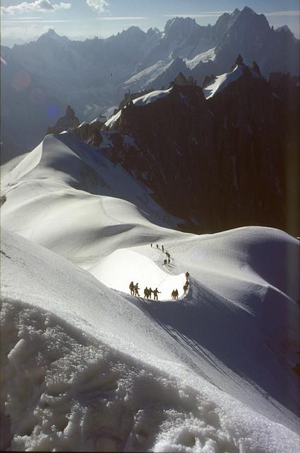 arete Aiguille du Midi – Aiguille du Plan