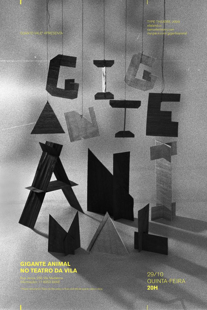 sculpture typography / black & white | typography / graphic design: Daniella Domingues