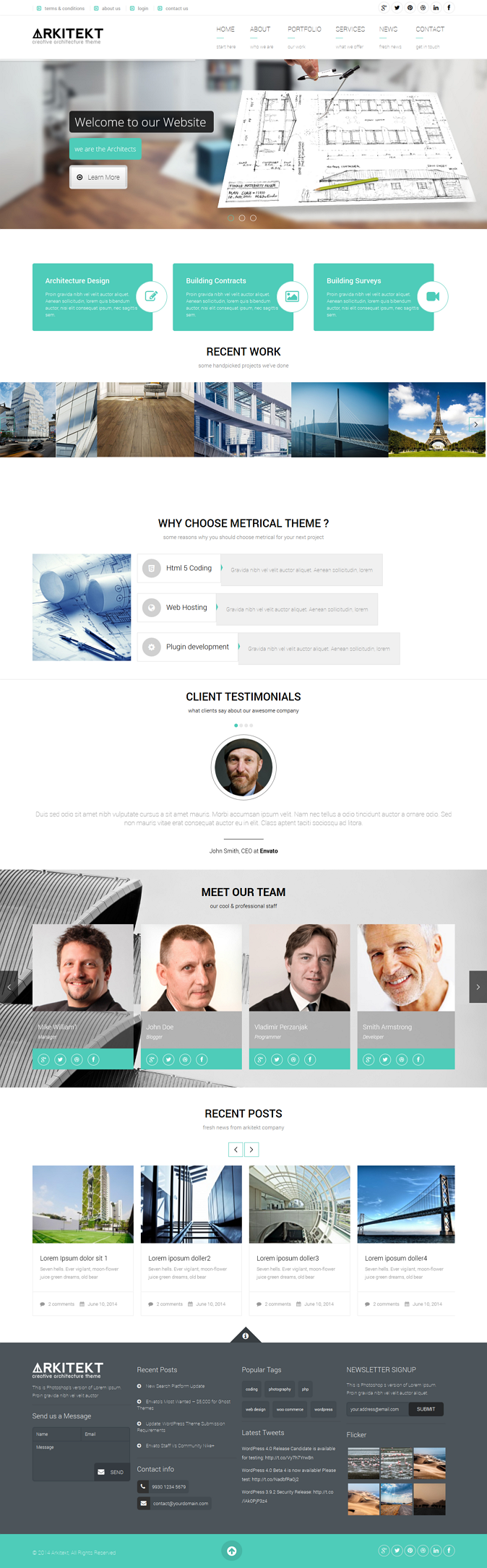 Arkitekt is a WordPress theme that you can use for your architect business. This theme is perfec ...