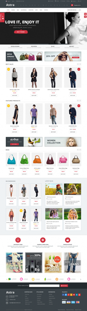 Astra is a responsive multipurpose Magento theme which is fully customizable and suitable for an ...