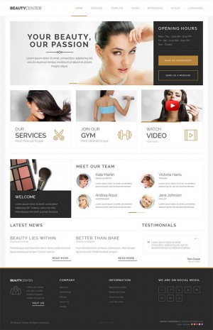 Beauty Center Template is a high quality, simple and clean responsive Joomla template. This them ...
