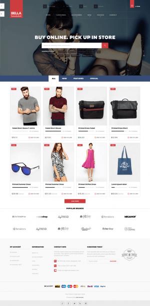 Pts Bellais a Prestashop responsive theme support multi-store.