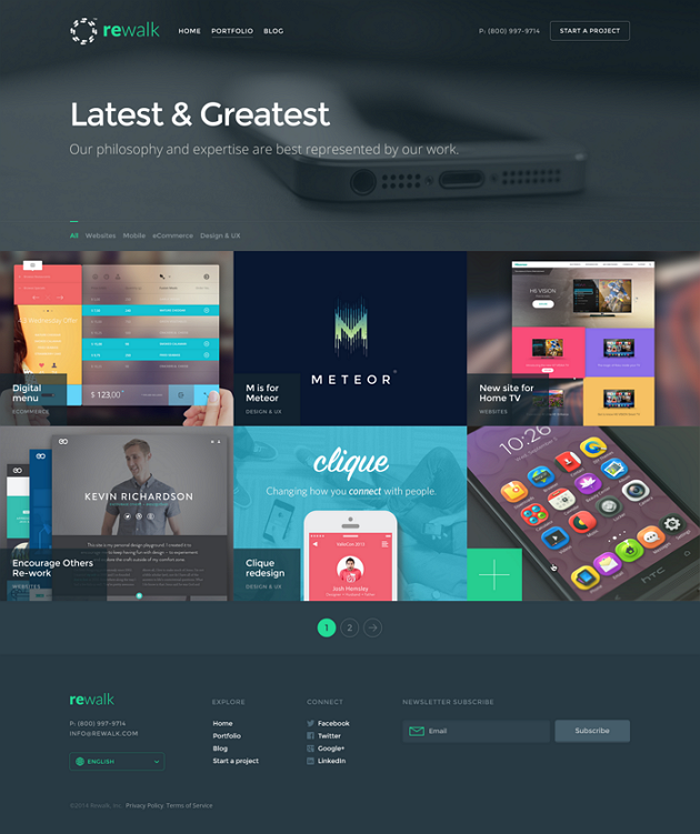 ReWalk is an incredible Business Adobe Muse Template. This Adobe Muse Template will suit busines ...