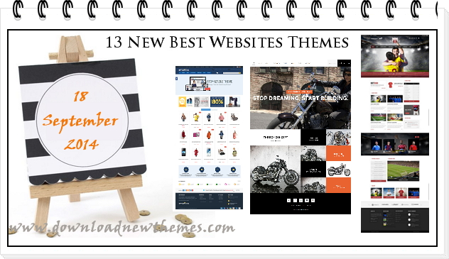 #webdesign #WP #responsive #premium 13 New Best Websites Themes of 18th Sep 2014 ->>>