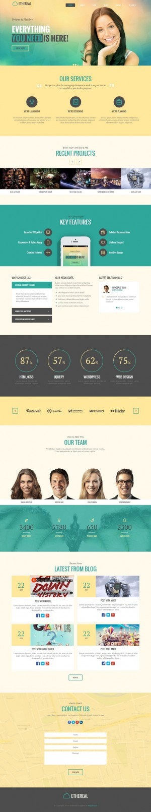 Ethereal is a clean and modern Multi Page Drupal theme. The theme uses the powerful Twitter's Bo ...