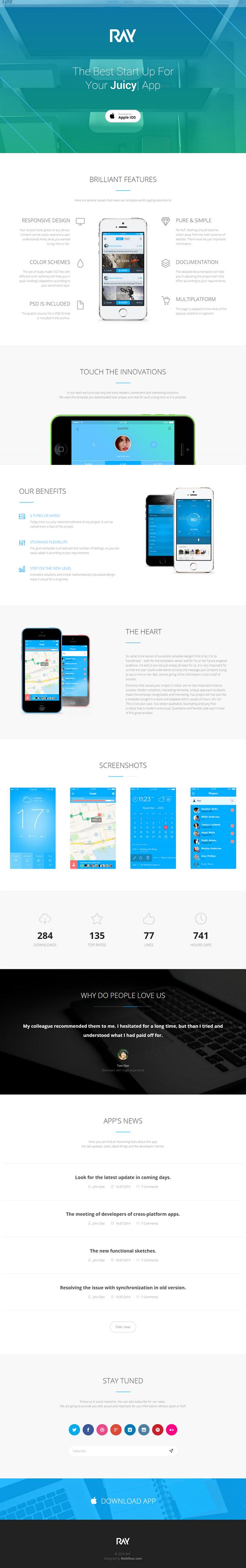 #webdesign #landingpage #themeforest #Ray #App Bootstrap Landing Page Theme  ->>>