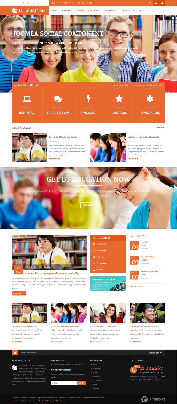 BT Education is one of the best solutions not only education websites but also websites which co ...