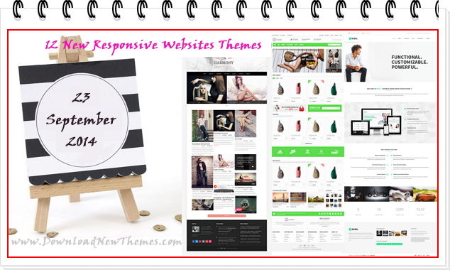 12 New Responsive Websites themes of 23rd Sept 2014