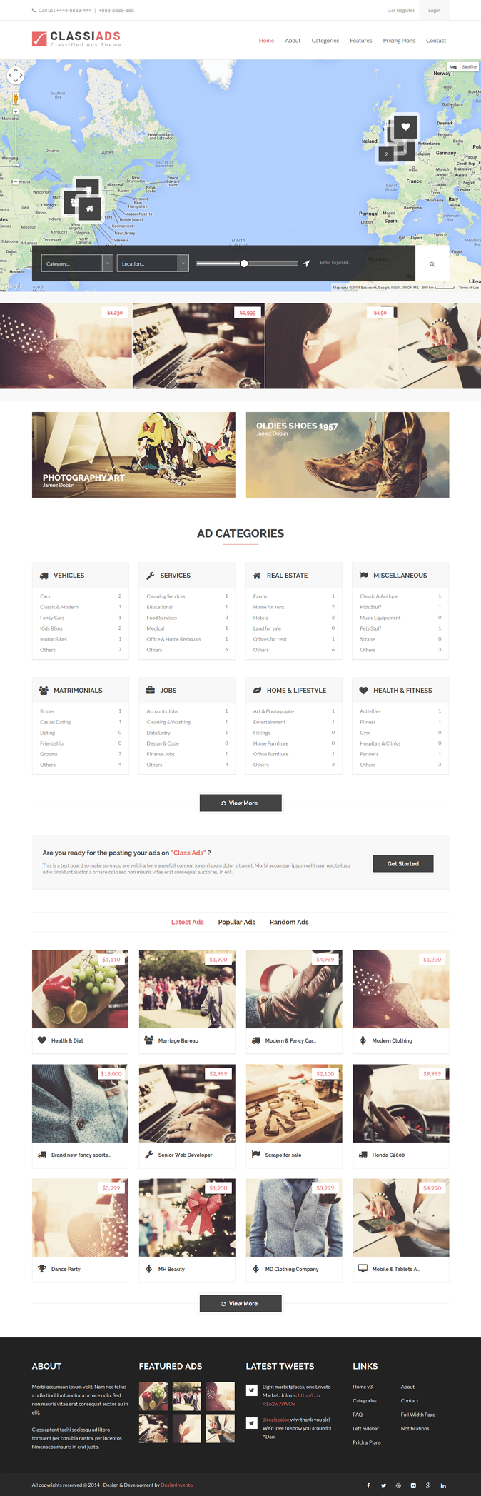 The ClassiAds is a Premium Classified WordPress theme, super flexible and has a fully responsive ...