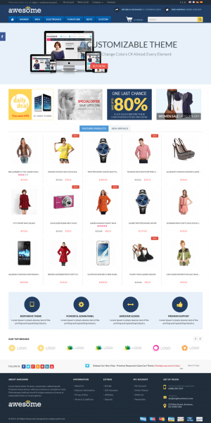 Awesome is a responsive multipurpose OpenCart theme which is fully customizable and suitable for ...