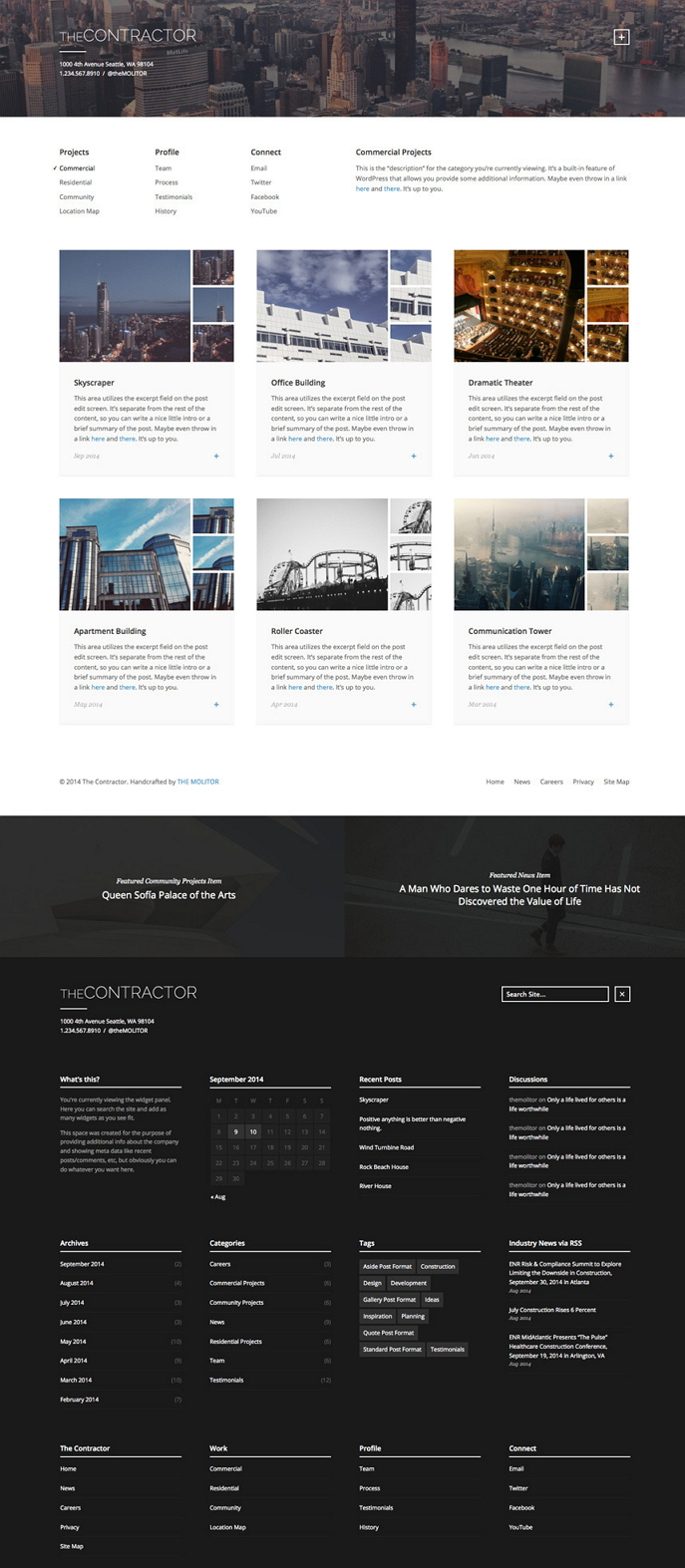 The Contractor is a WordPress theme built specifically for construction companies and architectu ...