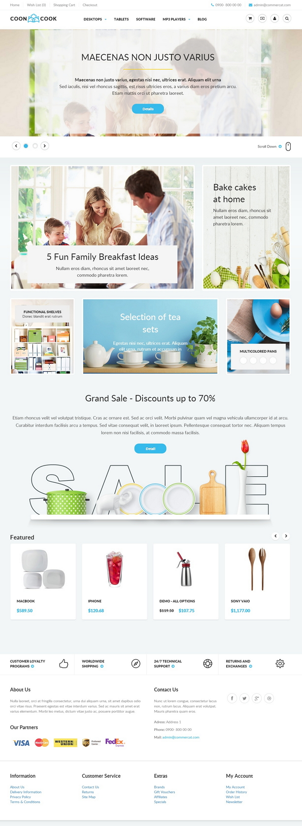 Cooncook is an responsive opencart universal theme for online store, can be used to sell a wide  ...