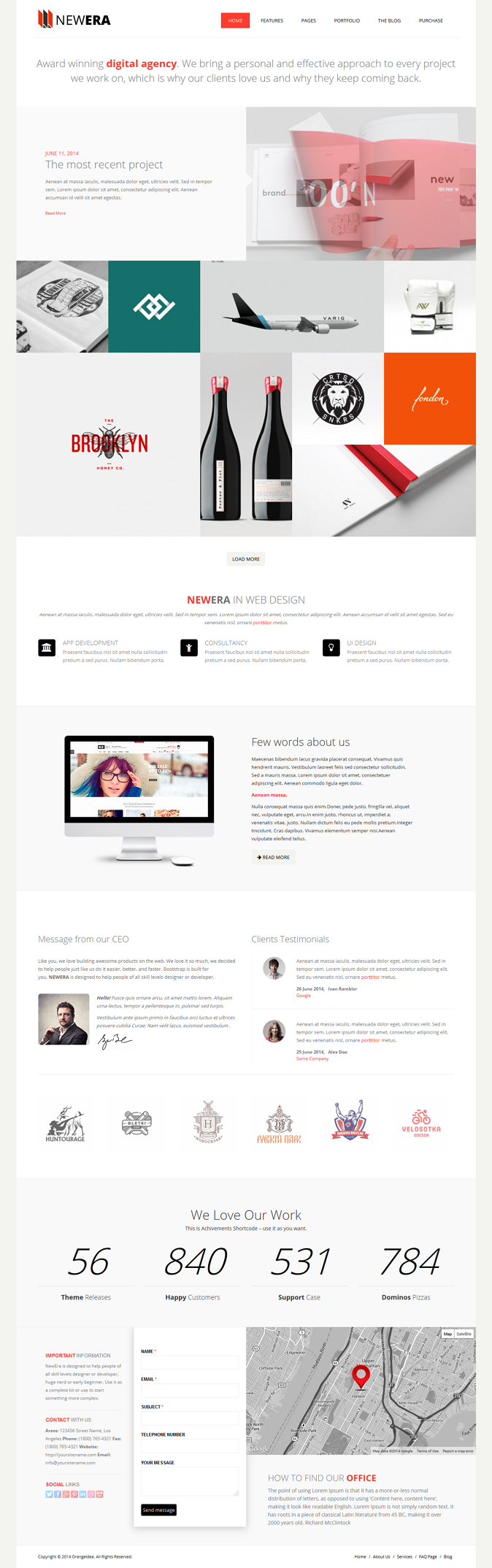 Powerful WP Theme designed in a clean and minimalistic style. This theme is very flexible, easy  ...