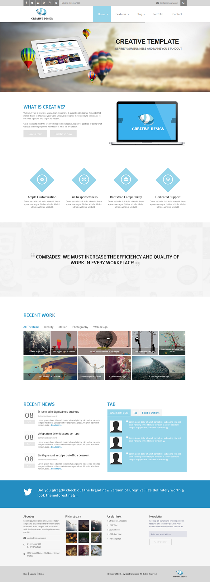 Creative Responsive Corporate Joomla Template is designed meticulously to give your site a moder ...