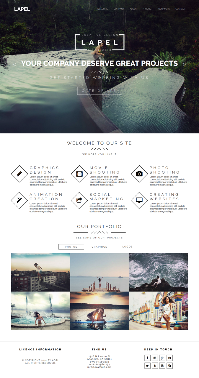 Lapel is multipurpose Muse Template for agencies, freelancers, developers or other types of busi ...